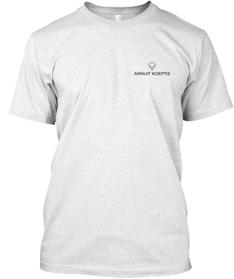 X Heather White T-Shirt Front