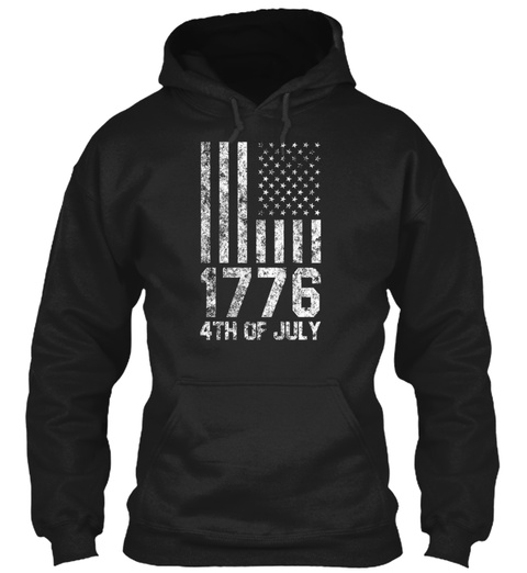 Independence Day 471776 Usa Gift Idea Black Sweatshirt Front