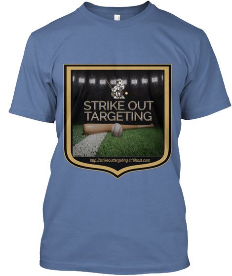 Strike Out Targeting Denim Blue T-Shirt Front