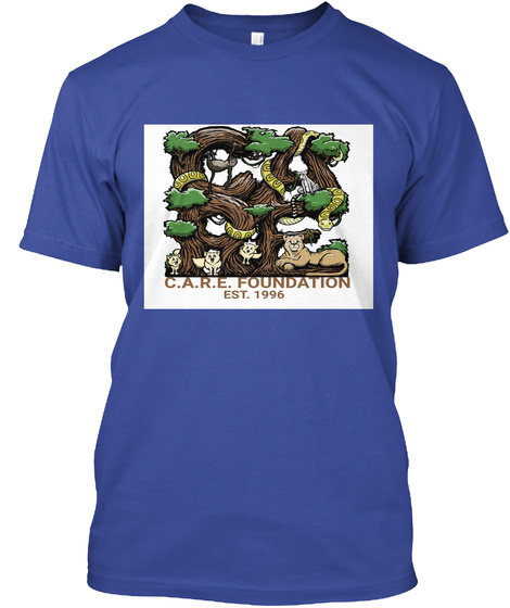 The Care Foundation  Deep Royal T-Shirt Front