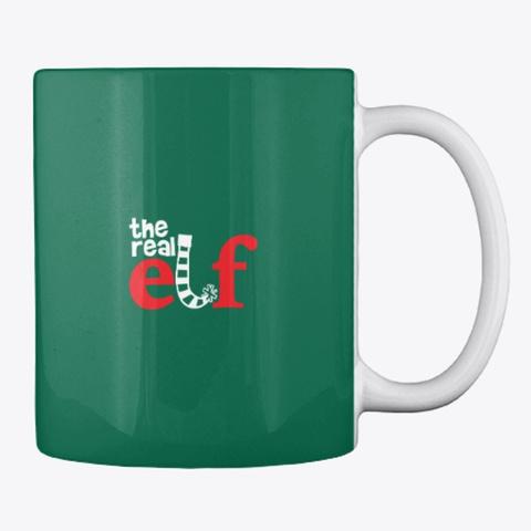 The Real Elf Mug Forest Green T-Shirt Back