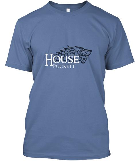 Puckett Family House   Wolf Denim Blue T-Shirt Front