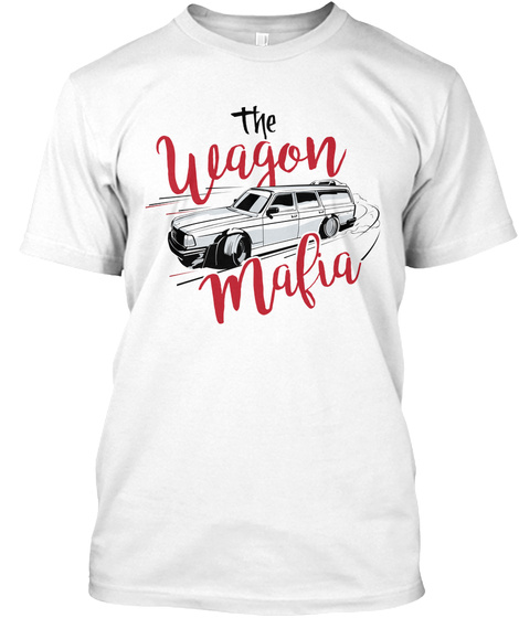 The Wagon Mafia White T-Shirt Front