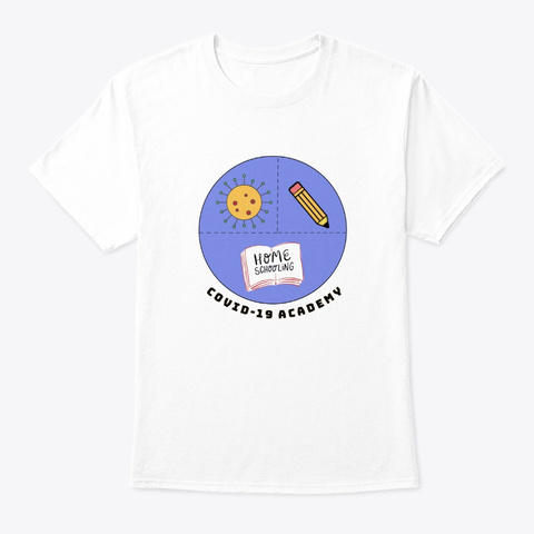 Covid Academy White T-Shirt Front