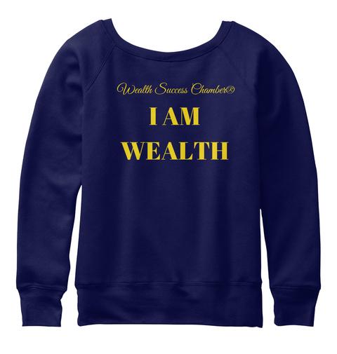 Wealth Success Chamber® Wealth Gear Navy  T-Shirt Back
