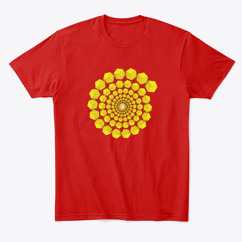 Blockchain Classic Red T-Shirt Front