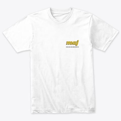 Monday Jazz Club Heather White T-Shirt Front