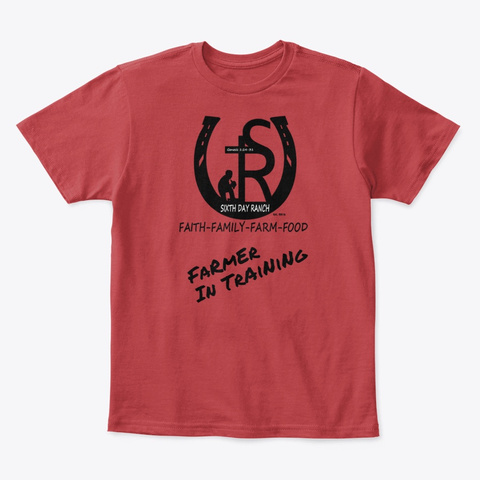 Sixth Day Ranch Gear Classic Red T-Shirt Front