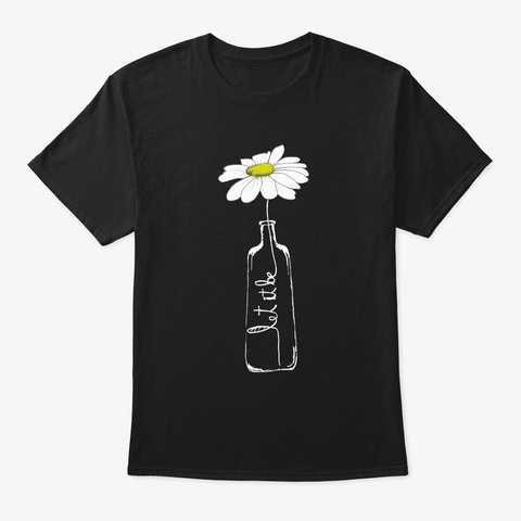 Flower Children Hippie Costume Black T-Shirt Front