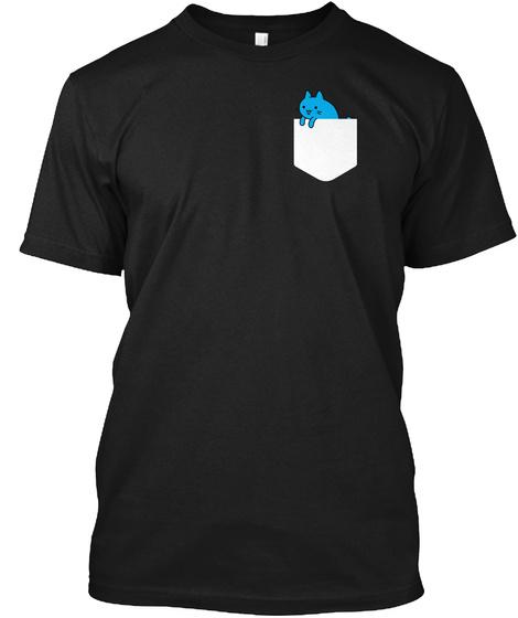 Pocket Cat   Funny Cat T Shirt Black T-Shirt Front