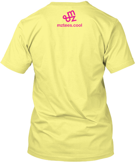 Distort, Typed Lemon Yellow  T-Shirt Back