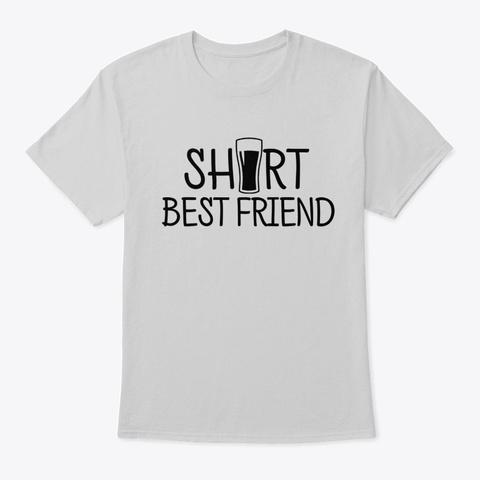 Cute Best Friend Tall And Short Matching Light Steel T-Shirt Front