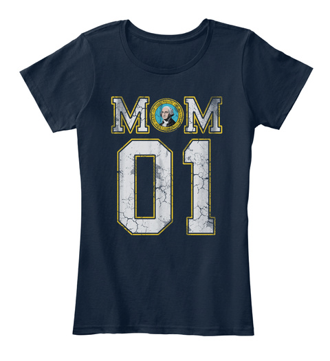 Washington Mom #1 Shirt New Navy T-Shirt Front