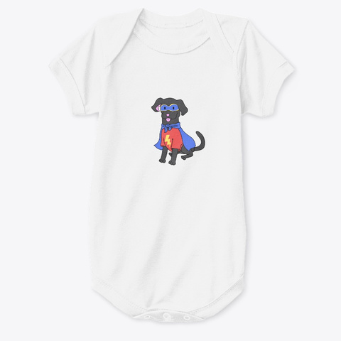 Superdog!  White T-Shirt Front