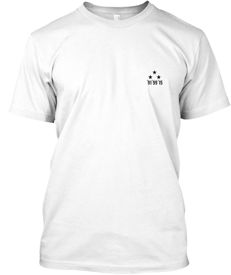 '91'99'15 White T-Shirt Front