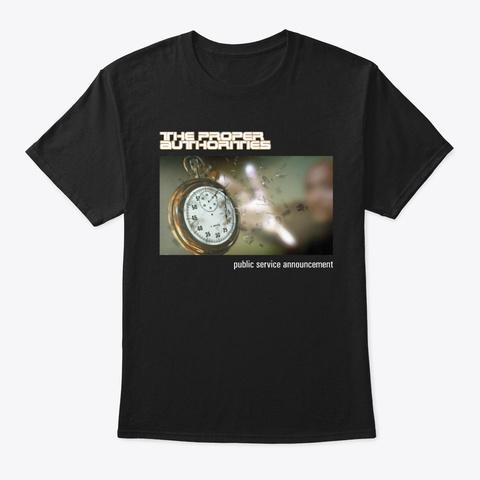 Public Service Announcement Cover Art 1 Black T-Shirt Front