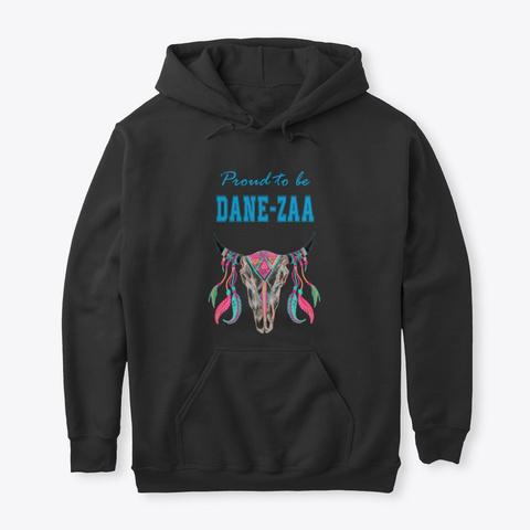 Proud To Be Dane Zaa Buffalo Skull Black T-Shirt Front