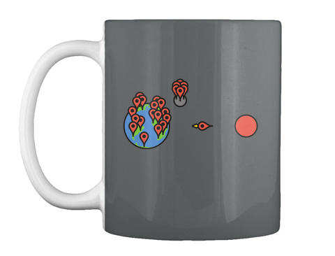 Red Pin Mug [Int] #Sfsf Dark Grey Taza Front