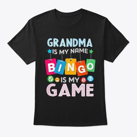 Th Bingo5 Black T-Shirt Front