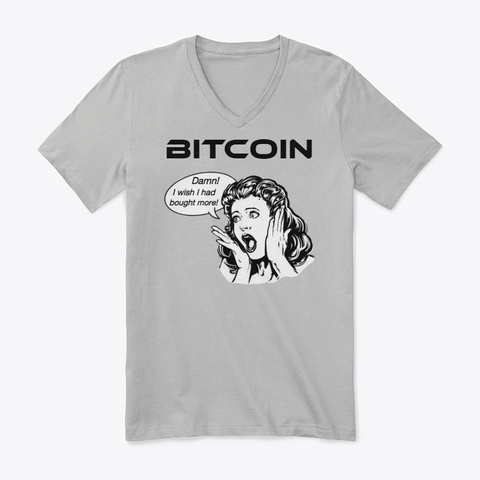 Bitcoin   Wish I Bought More Athletic Heather T-Shirt Front