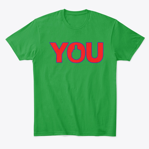 F You Kelly Green T-Shirt Front