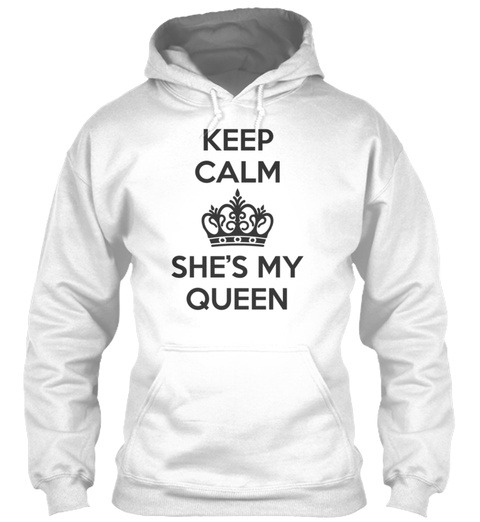 King And Queen Couples 16 White T-Shirt Front