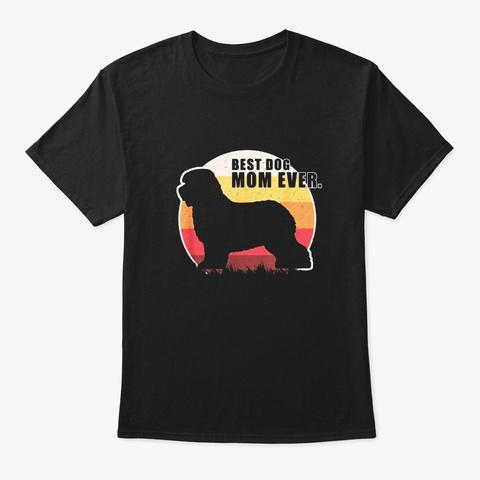 Vintage Retro Best Dog Mom Ever Old Black T-Shirt Front