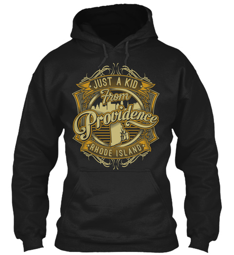 Just A Kid From Providence Rhode Island Black T-Shirt Front