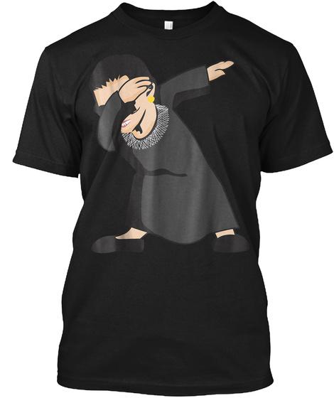Dabbing Ruth Bader Ginsburg Shirt Png Black T-Shirt Front