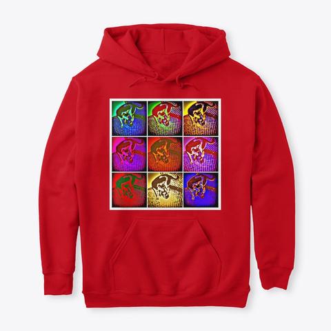 Jimmyinspaz Zz Logo Pop Art Red Sweatshirt Front
