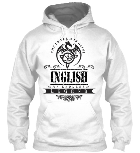 Inglish  White T-Shirt Front