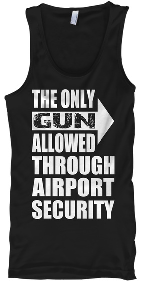 The Only Gun Allowed   Tank   Lefty Black T-Shirt Front