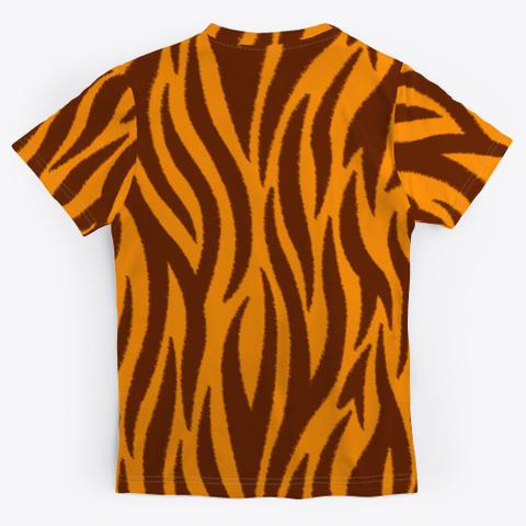 Halloween Costume Tiger Pattern Standard T-Shirt Back