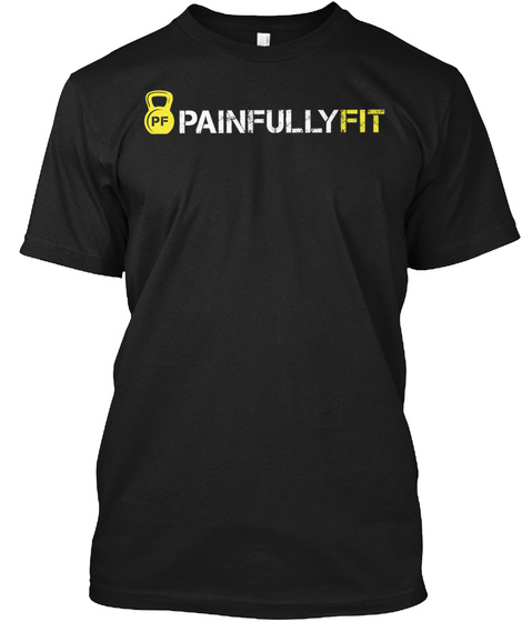 Pd Painfullyfit Black T-Shirt Front