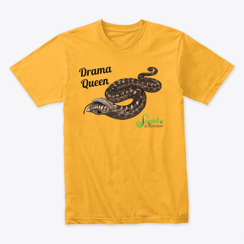 Drama Queen Gold T-Shirt Front
