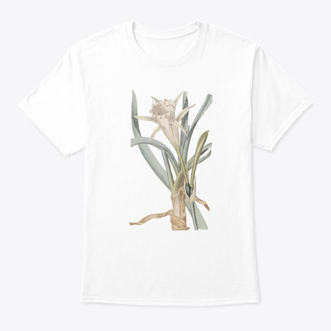 Botanical Vintage Illustrations White T-Shirt Front