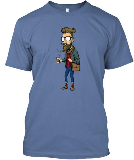 Original Hipsta Denim Blue T-Shirt Front