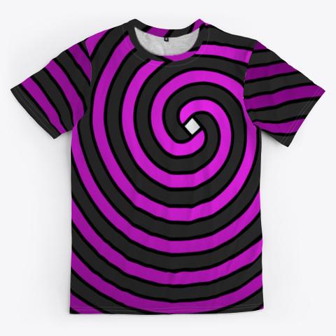 Archimedean Spiral Series   Fuchsia Black T-Shirt Front