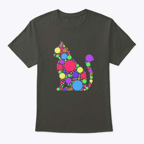 Polka Dot Cat International Dot Day Smoke Gray T-Shirt Front
