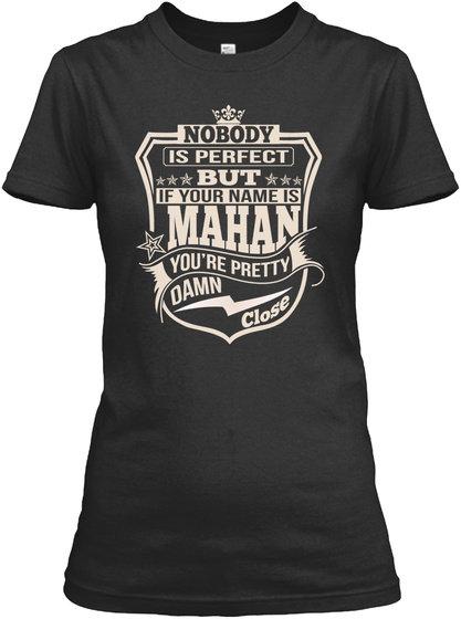 Nobody Perfect Mahan Thing Shirts Black T-Shirt Front