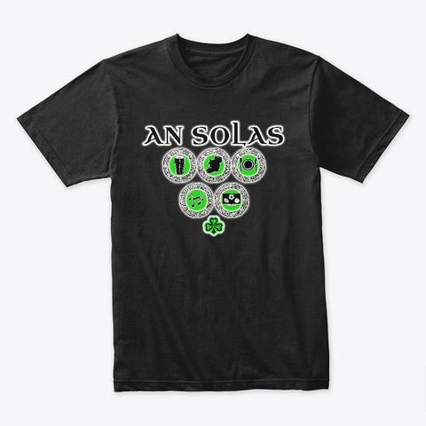 An Solas Tee 2 Black T-Shirt Front