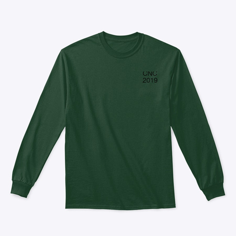 2019 Cnc Draft Test Forest Green T-Shirt Front