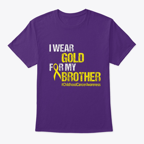 Childhood Cancer Awareness Tshirt Brothe Purple T-Shirt Front