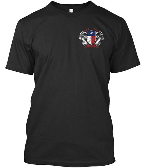 Texan By Birth Black T-Shirt Front