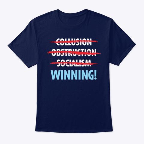 Winning! Navy T-Shirt Front