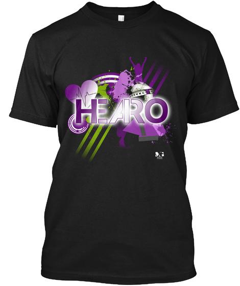 H.E.A.R.O. T Shirt Black T-Shirt Front
