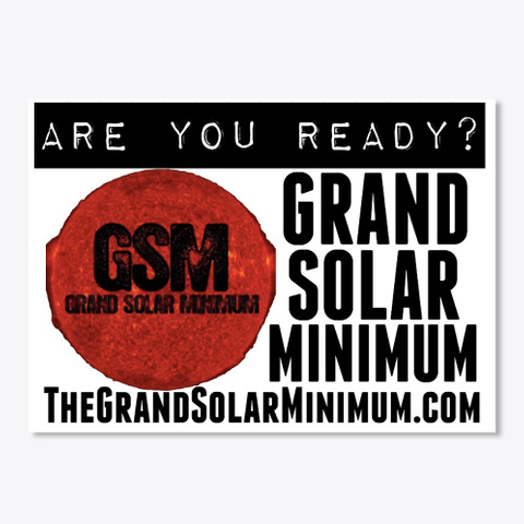 Grand Solar Minimum Stickers White T-Shirt Front