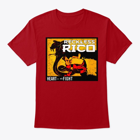 Reckless Rico Deep Red T-Shirt Front