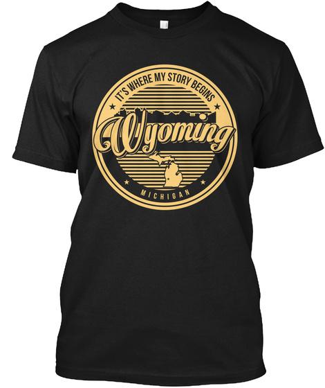 Wyoming Wyoming Black T-Shirt Front