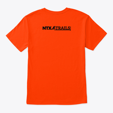 How Many Bikes? N + 1! Orange T-Shirt Back